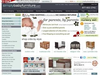 This is what the simplybabyfurniture.com website looks like.