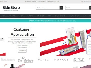 This is what the skinstore.com website looks like.