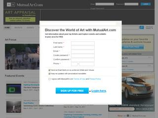 This is what the mutualart.com website looks like.