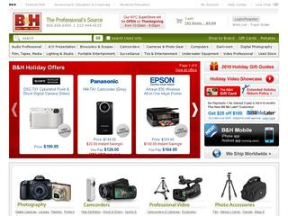Go to bhphotovideo.com website.