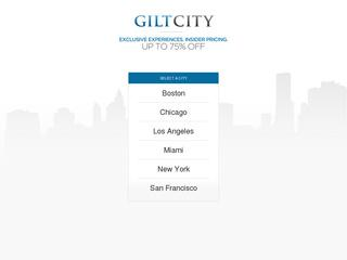 This is what the giltcity.com website looks like.