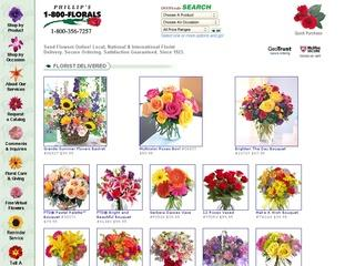 This is what the 800florals.com website looks like.