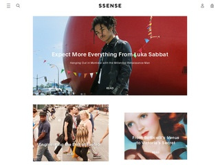 This is what the ssense.com website looks like.