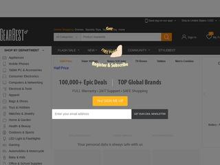 Go to gearbest.com website.
