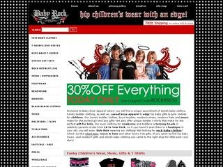 Go to babyrockapparel.com website.