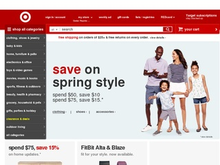 This is what the target.com website looks like.