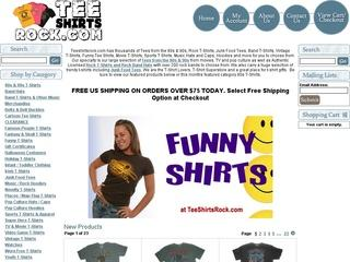 Go to teeshirtsrock.com website.