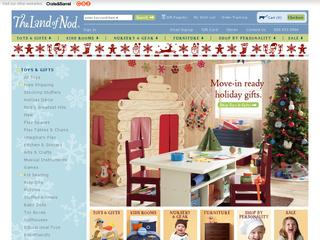 This is what the landofnod.com website looks like.