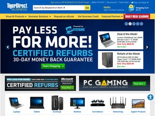 This is what the tigerdirect.com website looks like.