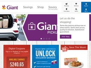 Go to giantfood.com website.