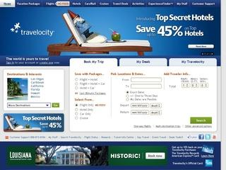 This is what the travelocity.com website looks like.