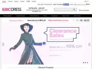 Go to ericdress.com website.