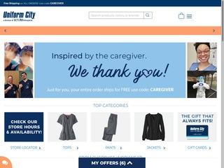 This is what the uniformcity.com website looks like.