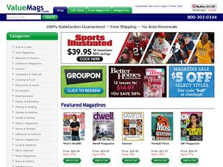 This is what the valuemags.com website looks like.