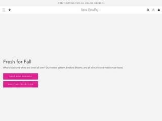 This is what the verabradley.com website looks like.