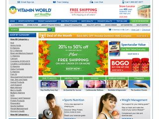 This is what the vitaminworld.com website looks like.