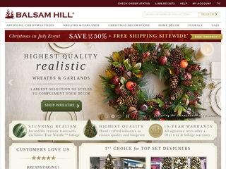 Go to balsamhill.com website.