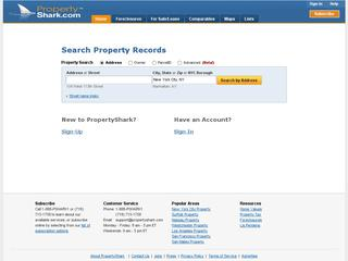 This is what the propertyshark.com website looks like.