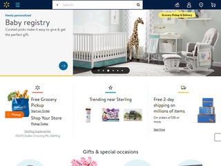 This is what the walmart.com website looks like.