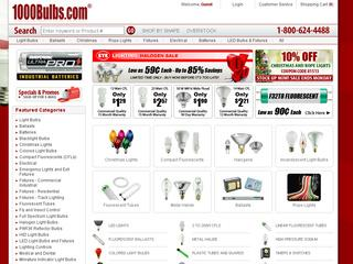 This is what the 1000bulbs.com website looks like.