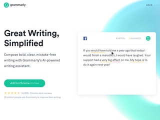 Go to grammarly.com website.
