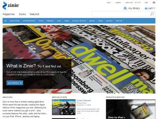 This is what the zinio.com website looks like.