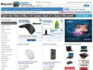 This is what the buy.com website looks like.