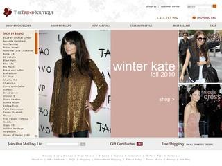 This is what the shopthetrendboutique.com website looks like.
