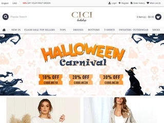 Go to cicilookshop.com website.