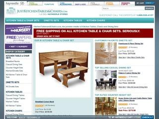 This is what the justkitchentablesandchairs.com website looks like.