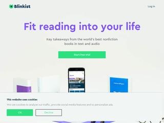 Go to Blinkist website.