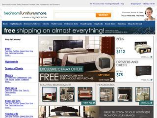 This is what the bedroomfurniturenmore.com website looks like.