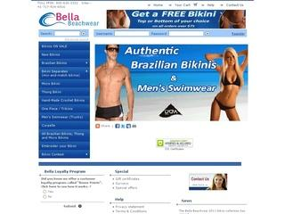 Go to bellabeachwear.com website.