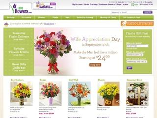 This is what the 1800flowers.com website looks like.