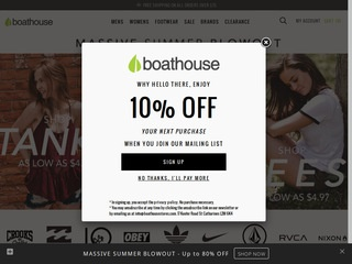 Go to boathousestores.com website.