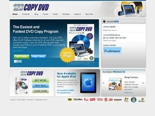 This is what the 123copydvd.com website looks like.