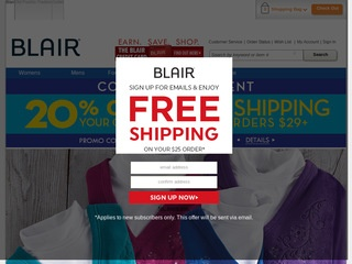 Go to blair.com website.