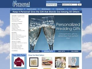 This is what the personalcreations.com website looks like.