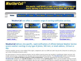 This is what the weathercall.net website looks like.