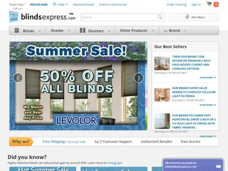 This is what the blindsexpress.com website looks like.