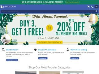 Go to blinds.com website.