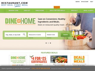 Go to restaurant.com website.