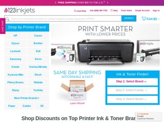 This is what the 123inkjets.com website looks like.