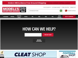 Go to Modell's Sporting Goods website.