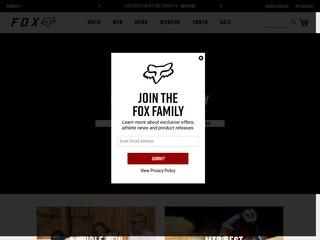 Go to Fox Racing Canada website.