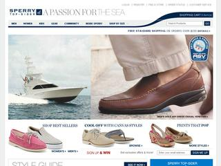 Go to Sperry Boat Shoes website.