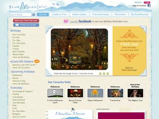 Go to bluemountain.com website.