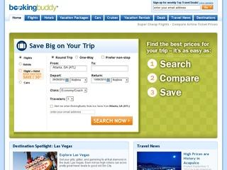 This is what the bookingbuddy.com website looks like.