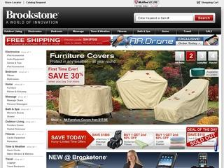 This is what the brookstone.com website looks like.