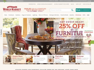 This is what the worldmarket.com website looks like.